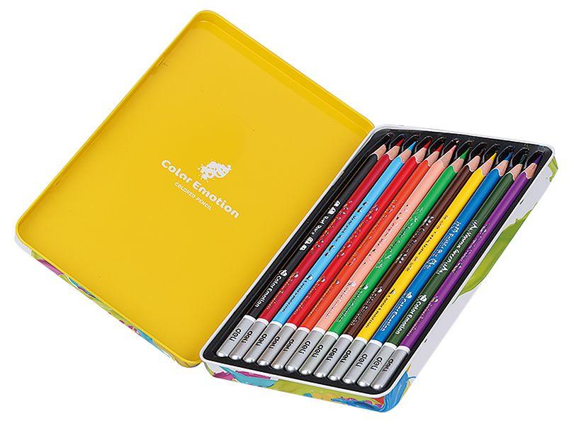 Карандаши цветные Deli EC00205 Color Emotion липа 12цв. мет.кор. карандаши artberry 12цв