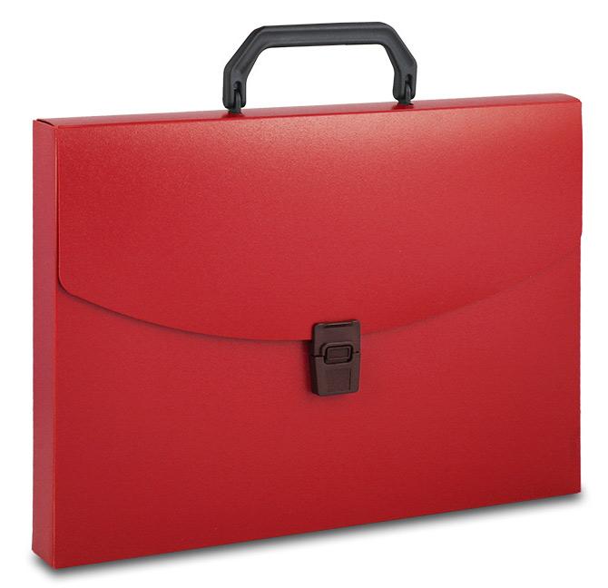 Папка-портфель Бюрократ A4, 816264, красный