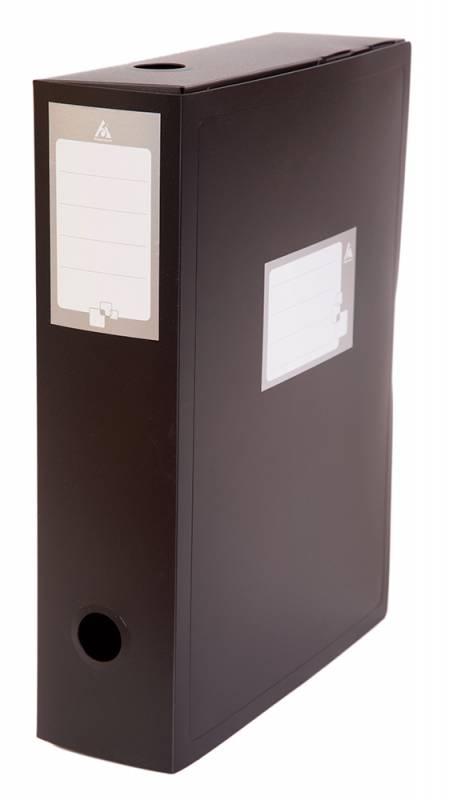 Короб архивный Бюрократ, черный, вырубная застежка, 330 х 245 мм короб архивный вырубная застежка бюрократ ba80 08blck пластик 0 8мм корешок 80мм 330х245мм черный