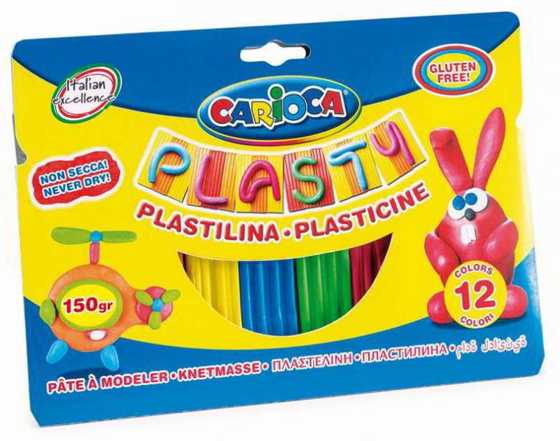 Пластилин Carioca 402429, 12 цветов carioca набор пластиковых мелков plastello 12 цветов
