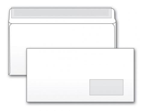 Конверт 125638 E65 110x220мм с правым окном белый силиконовая лента 80г/м2 (pack:1000pcs) 1000pcs 5mm infrared receiver diode ir led 940nm