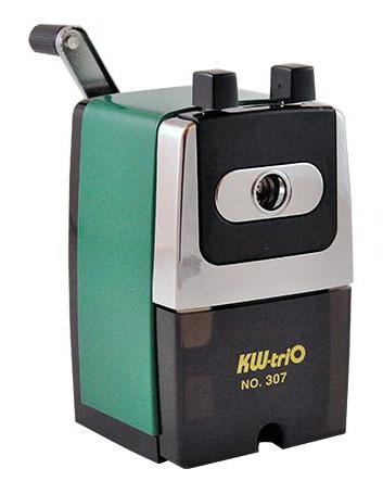Точилка для карандашей механическая Kw-Trio 307A, цвет зеленый