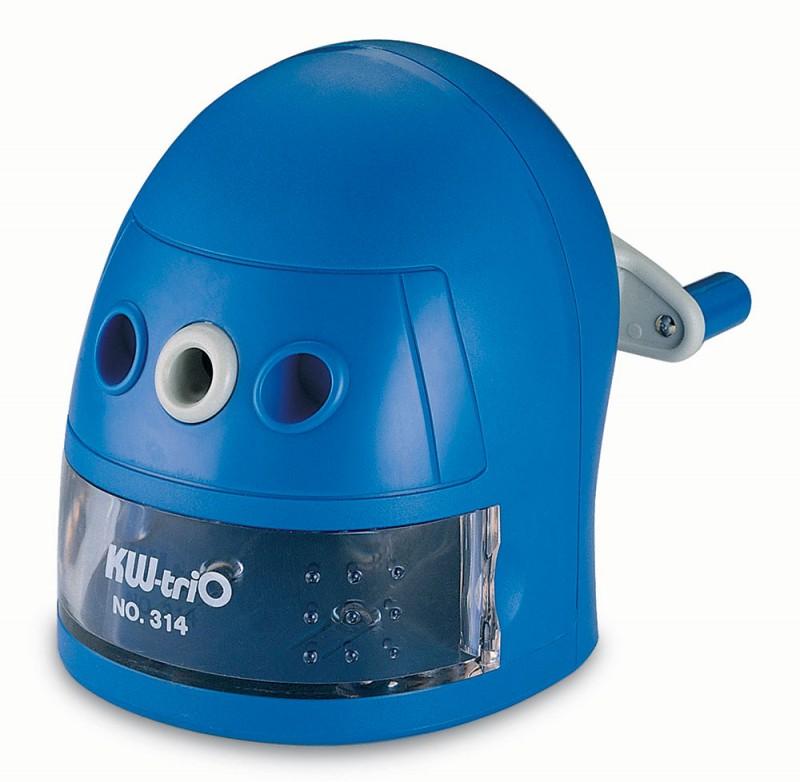 Точилка для карандашей KW-TRIO, цвет: синий, механическая. 812426