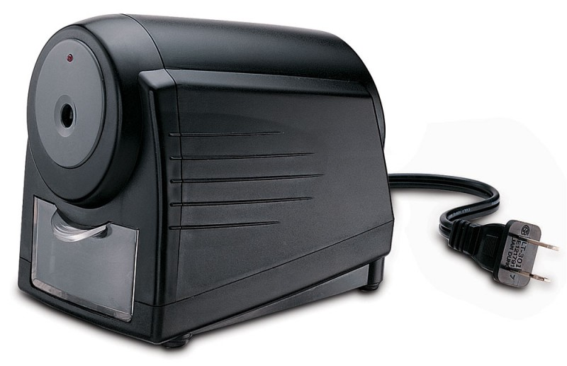 Точилка для карандашей KW-TRIO, цвет: черный, электрическая. 812432