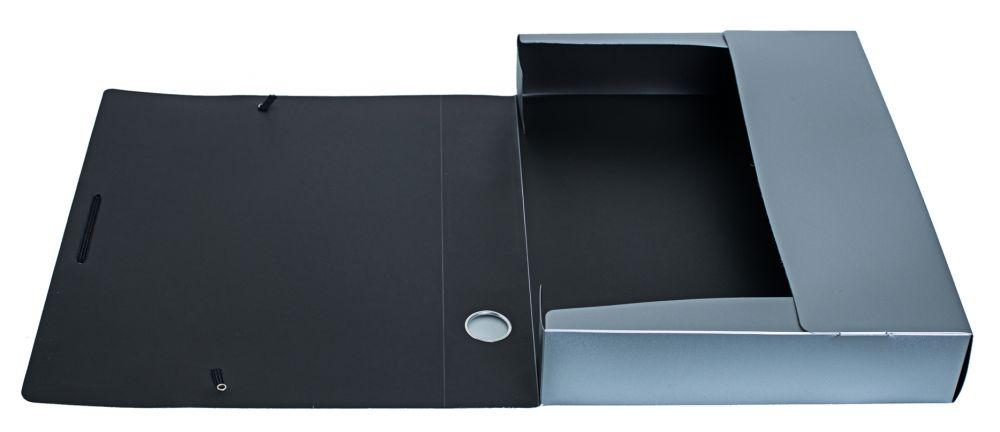Папка архивная Silwerhof на резинке, 418653, серебристый металлик, формат А4 папка архивная на резинке silwerhof perlen 311913 76 полипропилен 1мм корешок 100мм a4 мокрый асфаль 5 шт кор