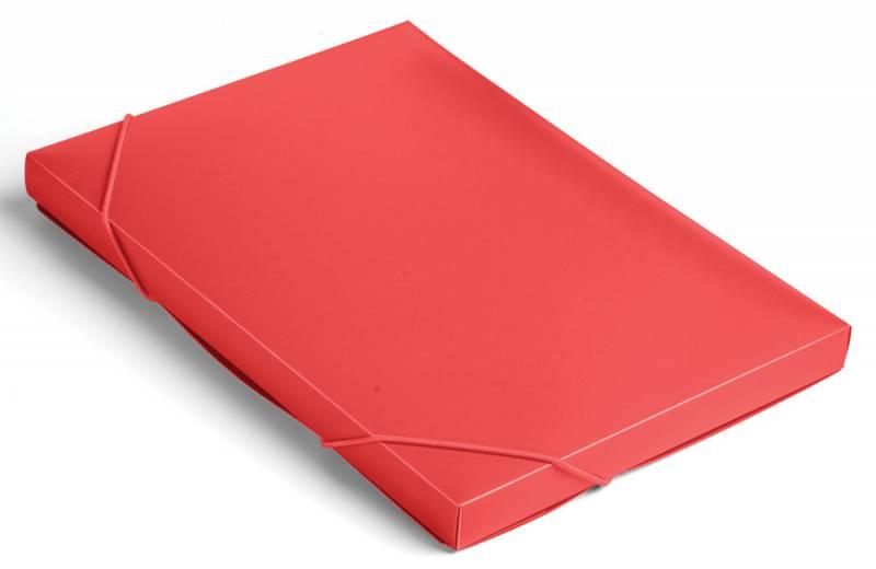 Папка-короб на резинке Бюрократ -BA25/05RED пластик 0.5мм корешок 25мм A4 красный короб архивный вырубная застежка бюрократ ba80 08blck пластик 0 8мм корешок 80мм 330х245мм черный
