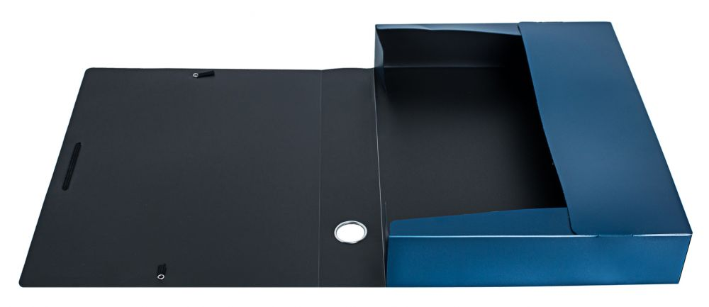 Папка архивная на резинке Silwerhof Perlen, 1053455, синий металлик, А4