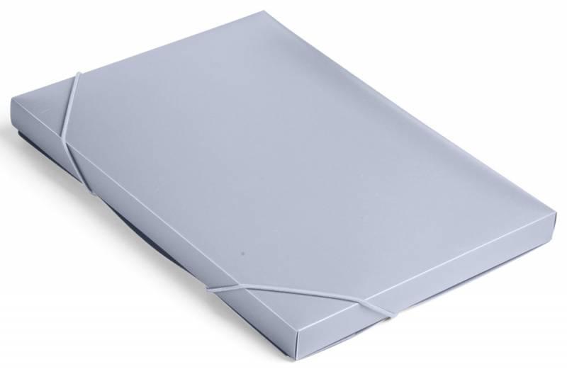 Папка короб Бюрократ, цвет: серый, на резинке. 816201