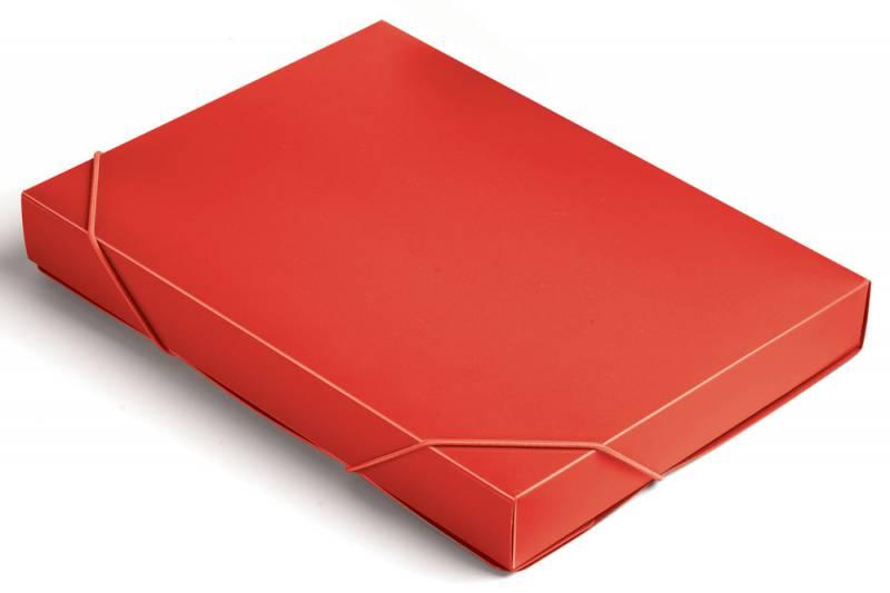 Папка-короб на резинке Бюрократ Tropic -BA40/07RED, цвет: красный, формат A4