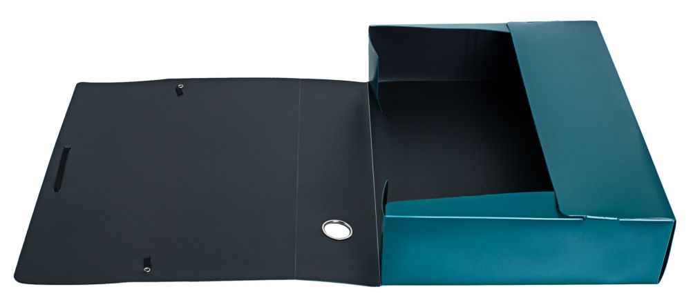 Папка архивная на резинке Silwerhof Perlen, 417135, зеленый металлик, формат A4 папка архивная на резинке silwerhof perlen 311913 76 полипропилен 1мм корешок 100мм a4 мокрый асфаль 5 шт кор