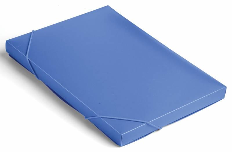 Папка короб Бюрократ, цвет: синий, на резинке. 816200