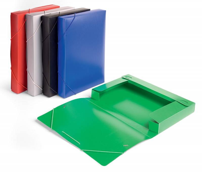 Папка-короб на резинке Бюрократ -BA40/07 пластик 0.7мм корешок 40мм A4 ассорти короб архивный вырубная застежка бюрократ ba80 08blck пластик 0 8мм корешок 80мм 330х245мм черный