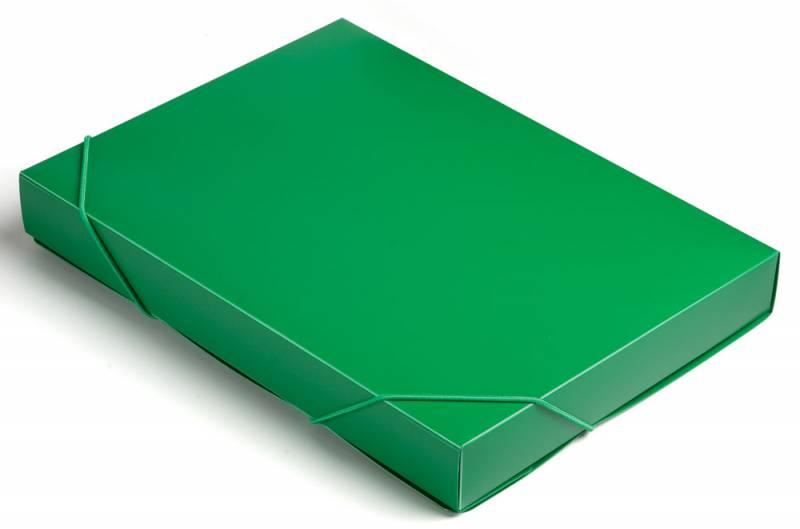 Папка-короб на резинке Бюрократ -BA40/07GRN пластик 0.7мм корешок 40мм A4 зеленый короб архивный вырубная застежка бюрократ ba80 08blck пластик 0 8мм корешок 80мм 330х245мм черный