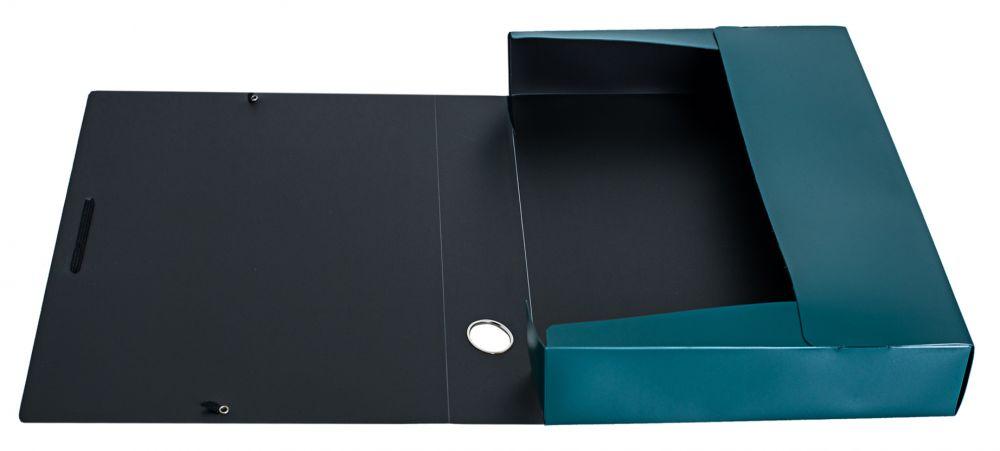 Папка архивная на резинке Silwerhof Perlen, 418651, зеленый металлик, А4 папка архивная на резинке silwerhof perlen 311913 76 полипропилен 1мм корешок 100мм a4 мокрый асфаль 5 шт кор