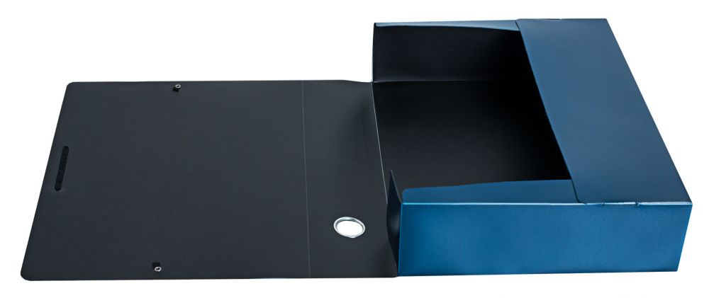 Папка архивная на резинке Silwerhof Perlen, 1006782, синий металлик, формат A4
