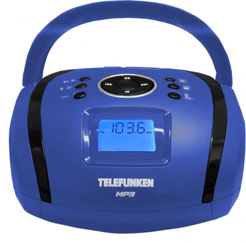 Аудиомагнитола Telefunken TF-SRP3449 синий 3Вт/MP3/FM(dig)/USB/SD/MMC цена