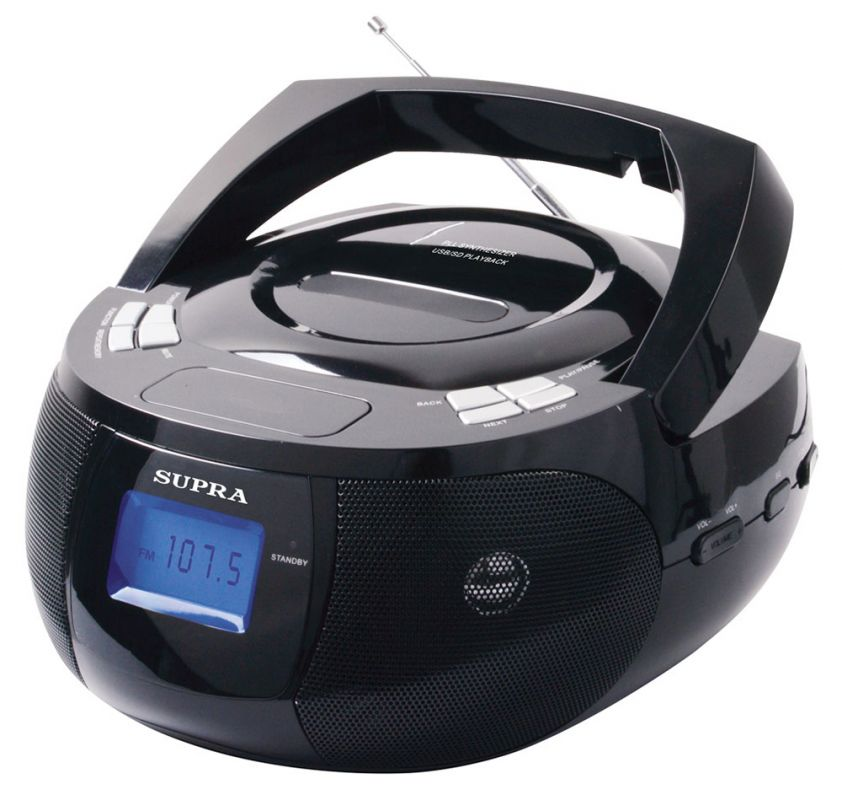 Аудиомагнитола Supra BB-33MUS, цвет: черный цена