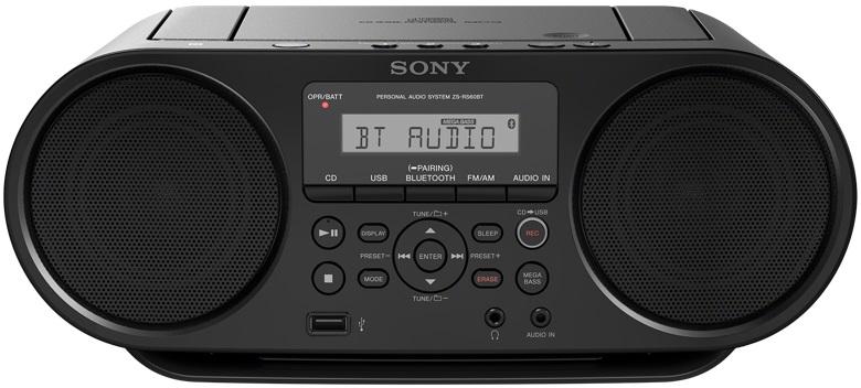 лучшая цена Аудиомагнитола Sony ZS-RS60BT, цвет: черный