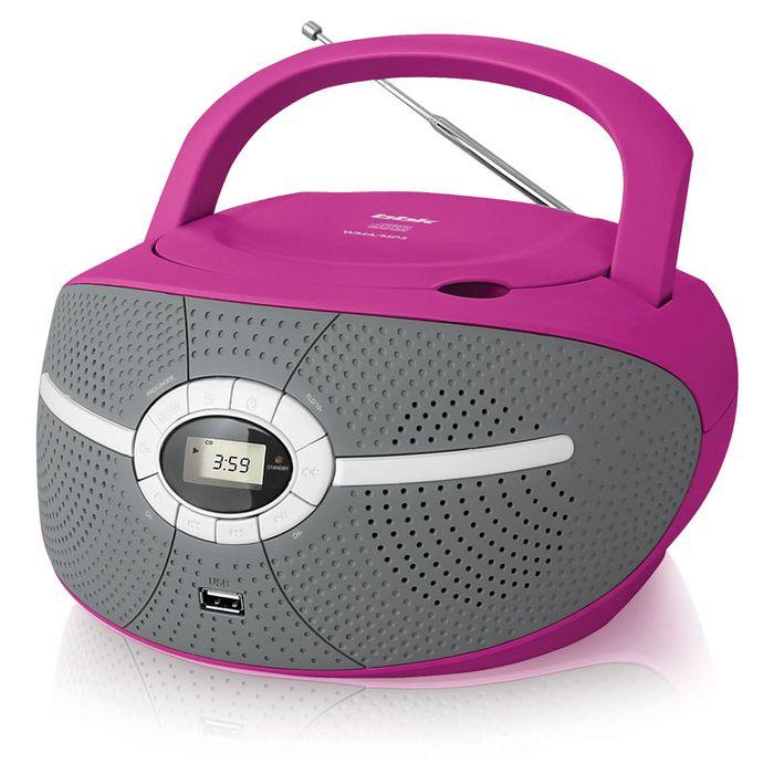 Аудиомагнитола BBK BX195U 383559, розовый аудиомагнитола bbk bx195u желтый