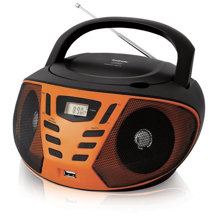 лучшая цена Аудиомагнитола BBK BX193U 383552, черный, оранжевый