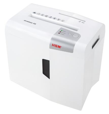 Шредер HSM ShredStar X8 (секр.P-4)/фрагменты/9лист./18лтр./скобы/пл.карты/CD makineros 4 cd