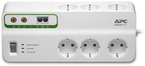 Сетевой фильтр APC PMH63VT-RS 6 розеток, 3 м, 283528, белый