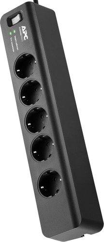 Сетевой фильтр APC PM5B-RS 5 розеток, 1.83м, 378914, черный