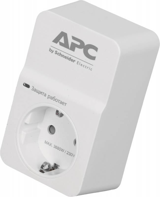 Сетевой фильтр APC PM1W-RS 1 розетка, 400279, белый сетевой фильтр apc pm5b rs серый