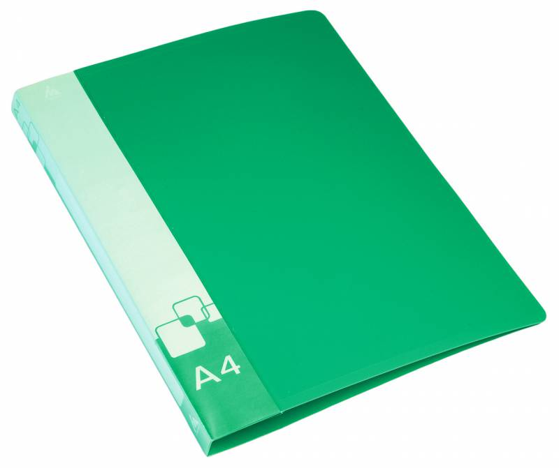 Папка Бюрократ, на 4-х D-кольцах, формат А4, внут.и торц.карм зеленый папка на 4 х d кольцах бюрократ black