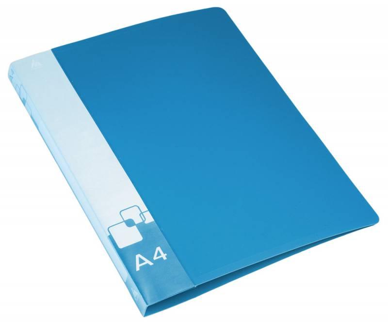 Папка Бюрократ, на 4-х кольцах ,формат А4, внут.и торц.карм синий папка на 4 х d кольцах бюрократ black