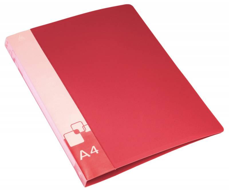 Папка Бюрократ, на 4-х кольцах, формат А4, внут.и торц.карм красный папка на 4 х d кольцах бюрократ black