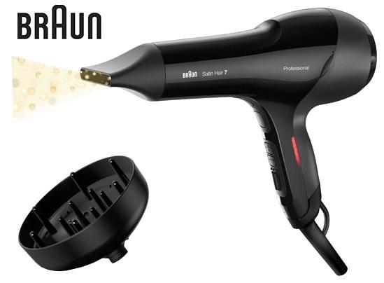 лучшая цена Фен Braun HD785, цвет черный