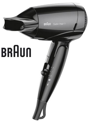Фен Braun HD130, цвет черный фен philips bhd001 00 1200вт черный