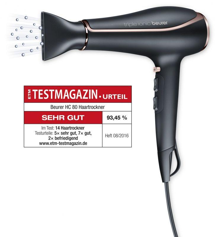 Фен Beurer HC80 2200Вт, цвет: черный
