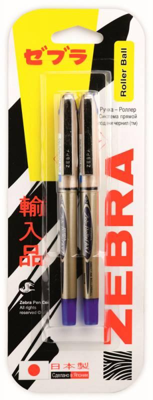 Набор ручек-роллеров Zebra ZEB-ROLLER BE& AX7, 0.7мм, цвет чернил: синий, 2 шт недорого