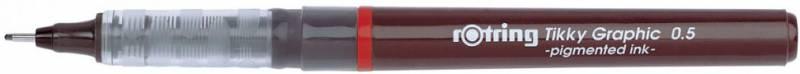 Ручка капиллярная Rotring Tikky Graphic, 0.5мм, цвет чернил: черный ручка шариковая rotring tikky 3 в 1 s0891180 0 5 мм цвет корпуса белый цвет чернил синий