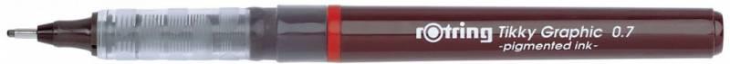 Ручка капиллярная Rotring Tikky Graphic, 0.7мм, цвет чернил: черный ручка шариковая rotring tikky 3 в 1 s0891180 0 5 мм цвет корпуса белый цвет чернил синий