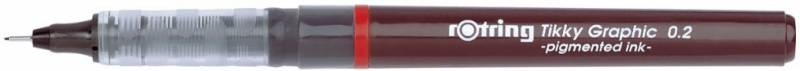 Набор ручек капиллярных Rotring Tikky Graphic, 0.2/0.4/0.8мм, цвет чернил: черный, 3 шт touch набор капиллярных ручек liner цвет чернил черный 7 шт