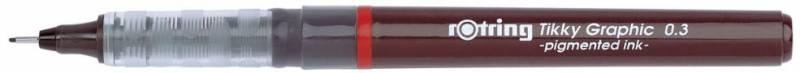 Ручка капиллярная Rotring Tikky Graphic, цвет чернил: черный ручка шариковая rotring tikky 3 в 1 s0891180 0 5 мм цвет корпуса белый цвет чернил синий