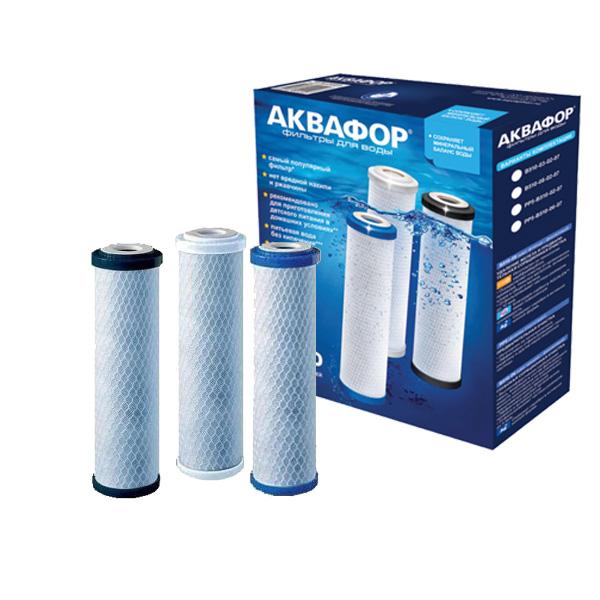 Картридж Аквафор РР20-В510-03-РР5 для проточных фильтров, 3 шт цена и фото
