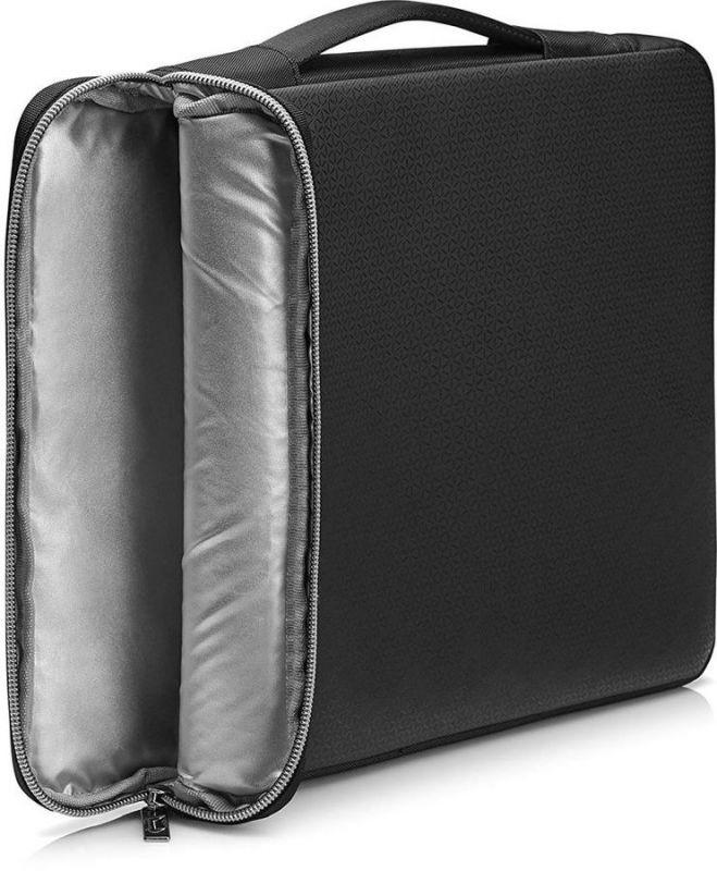 Сумка на плечо HP чехол для ноутбука 17 hp carry sleeve черный серебристый