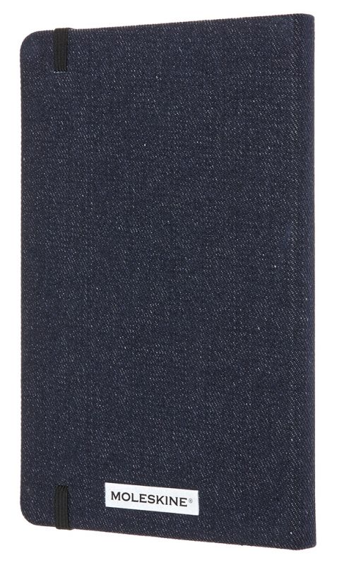 Блокнот Moleskine Limited Edition Denim LCDNB1QP060 Large, цвет: темно-синий, 130х210 мм, 192 стр. в линейку
