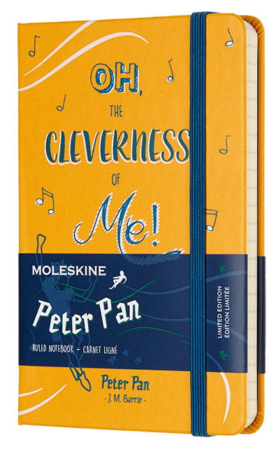 Блокнот Moleskine Limited Edition PETER PAN, 192 листа, линейка, 90x140 мм цена