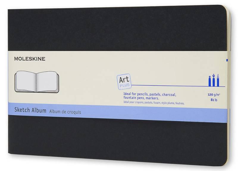 Блокнот для рисования Moleskine CAHIER SKETCH ALBUM ARTSKA3, 44 листа, цвет: черный, 130х210 мм блокнот moleskine cahier journal large 130х210мм обложка картон 80стр линейка бежевый 3шт [qp416]