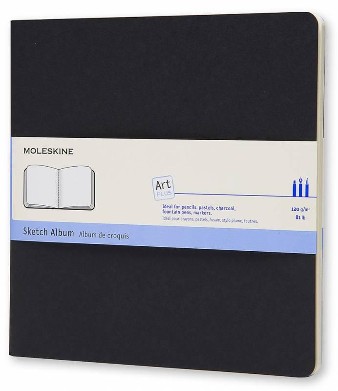 Блокнот для рисования Moleskine CAHIER SKETCH ALBUM, 88 листов, цвет: черный, 190x190 мм sketch