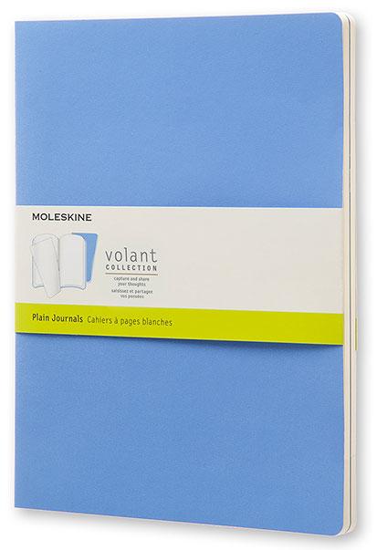 Набор блокнотов Moleskine VOLANT, 96 листов, нелинованный, цвет: синий/темно-синий, 130х210 мм, 2 шт moleskine блокнот classic large 13 x 21 см 120 листов нелинованный цвет темно синий