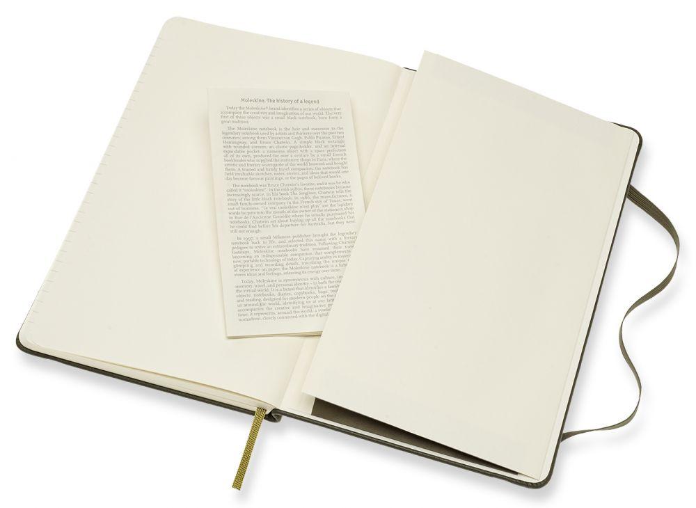Блокнот Moleskine Limited Edition Leather, 192 листа, линейка, цвет: темно-зеленый, 130х210 мм