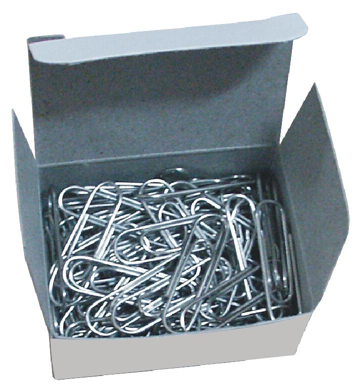 Скрепки Deli E0050 никелированные, 50 мм, 100 шт скрепки high qualityality из стали гофрированные никелированные 77мм 100 шт