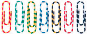 Скрепки Alco Zebra 2242-26, цвет в ассортименте, 50 мм, 100 шт carcam alco 6000