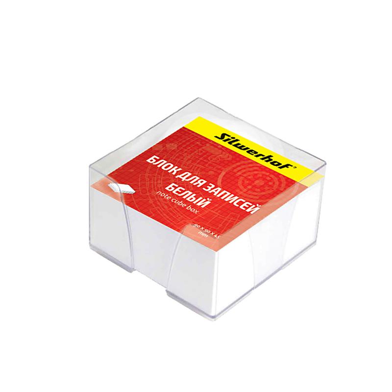 Блок для записей Silwerhof, цвет: белый, 9 х 9 х 4,5 см. 701005